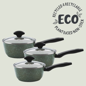 Prestige Eco 3 Piece Non-Stick Saucepan Set