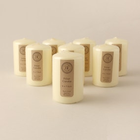 Pack of 8 Church Candles 5cm x 7.5cm
