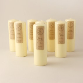 Pack of 8 Church Candles 5cm x 15cm