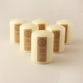 Pack of 6 Church Candles 7.5cm x 10cm