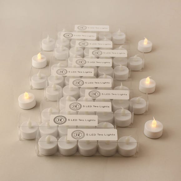 Pack of 60 White LED Tealights White