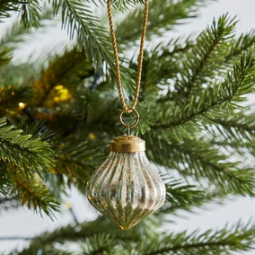 Small Ribbed Glass Bauble