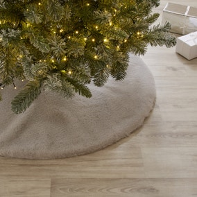 Grey Faux Fur Tree Skirt
