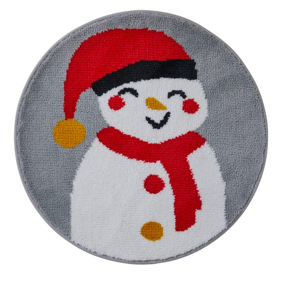 Snowman Bath Mat MultiColoured