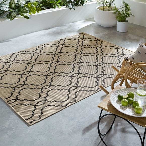 Milan Indoor Outdoor Rug Milan Beige and Black undefined