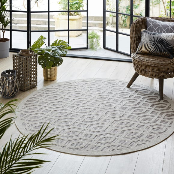 Indoor Outdoor Mondo Natural Circle Geometric Rug Mondo Natural undefined