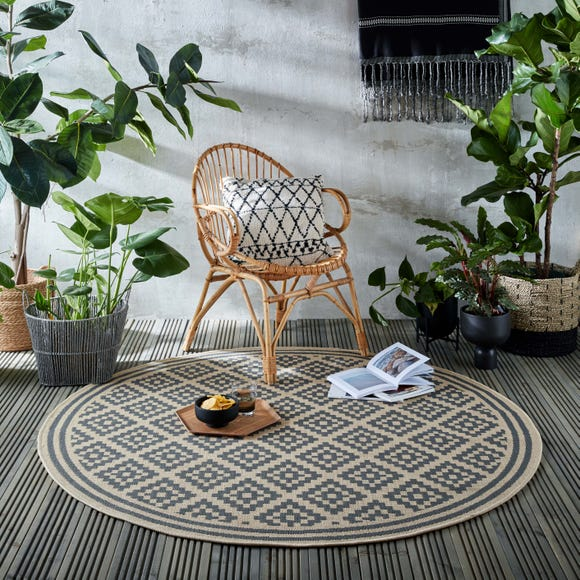 Indoor Outdoor Moretti Circle Rug Moretti Blue undefined