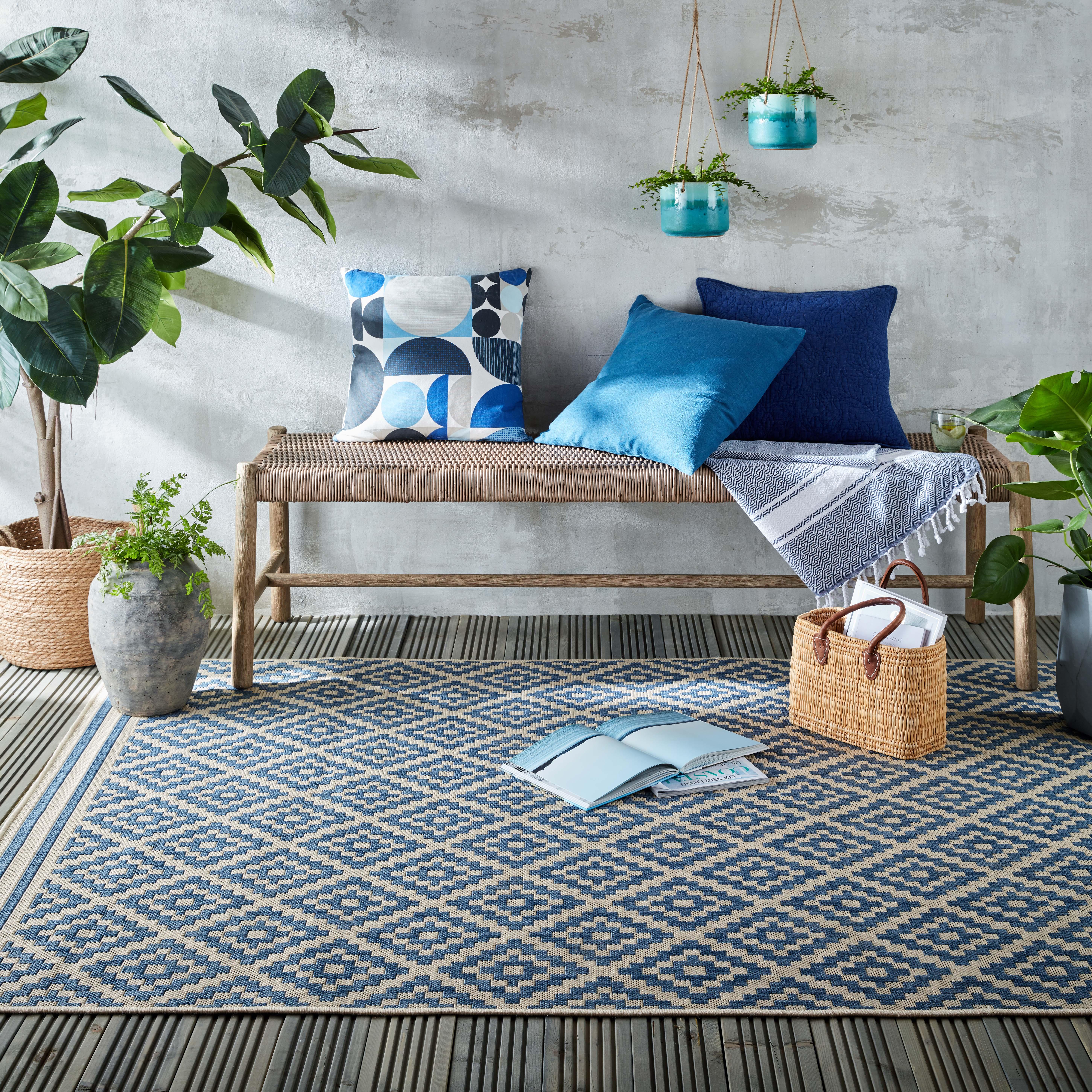 Photo of Indoor outdoor moretti rug moretti blue