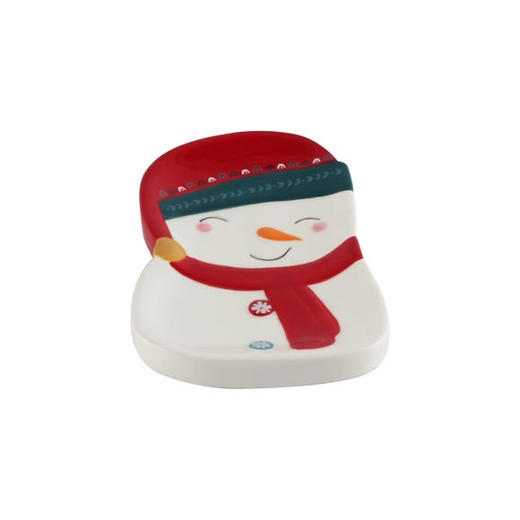 Snowman Soap Dish White