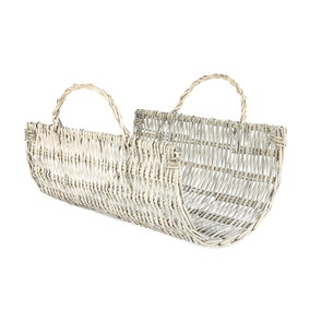 Small Grey Willow Log Holder Basket
