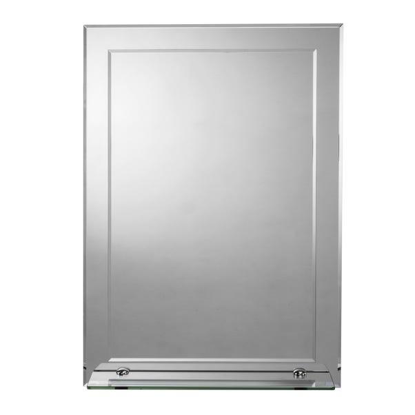 Devoke Rectangular Mirror with Shelf Silver