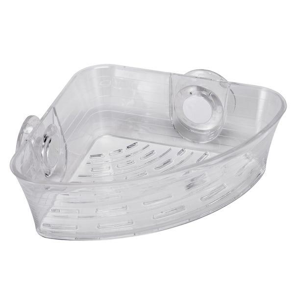 Press 'N' Lock Corner Shower Basket Clear
