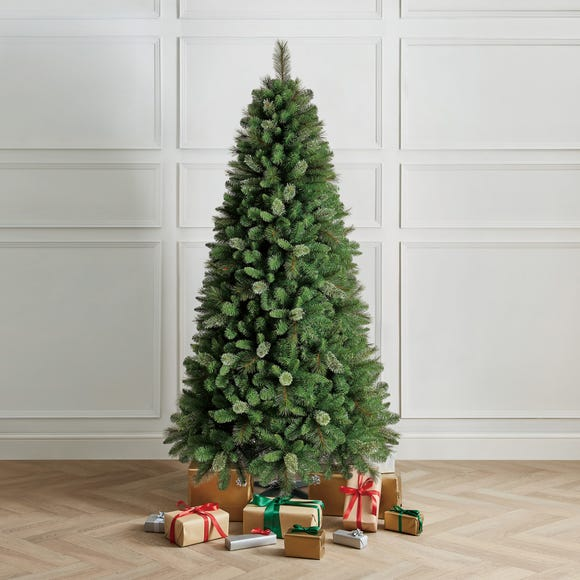 7Ft Mixed Foliage Tree With Cashmere Tip Green