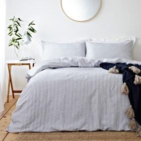 Signature Hazzy Blue 100% Cotton Duvet Cover and Pillowcase Set