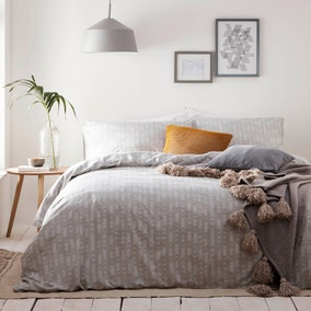 Greenwich Grey 100% Cotton Duvet Cover and Pillowcase Set