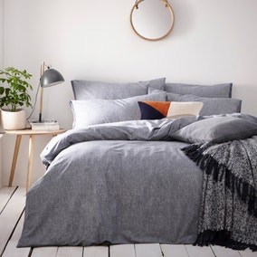 Claybourne Denim 100% Cotton Duvet Cover and Pillowcase Set