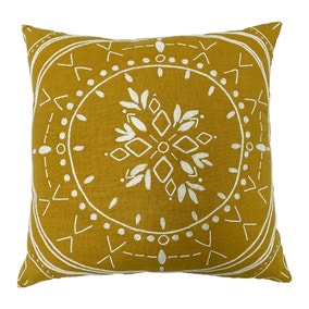 Mandala Ochre Cushion