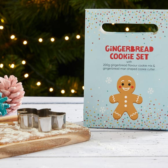 Gingerbread Man Cookie Gift Set Blue
