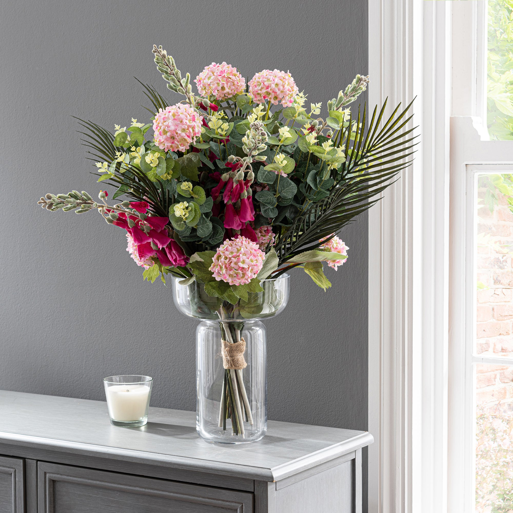 Click to view product details and reviews for Florals Forever Everly Foxglove Luxury Bouquet Pink 63cm Pink.