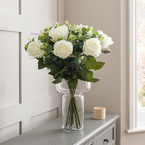 Florals Forever Ava Rose Luxury Bouquet White 58cm