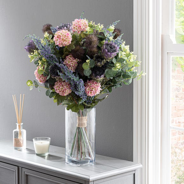 Florals Forever Lila Thistle Luxury Bouquet Purple 63cm Purple
