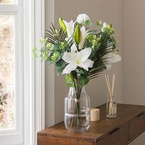 Florals Forever Grace Lily Luxury Bouquet White 58cm