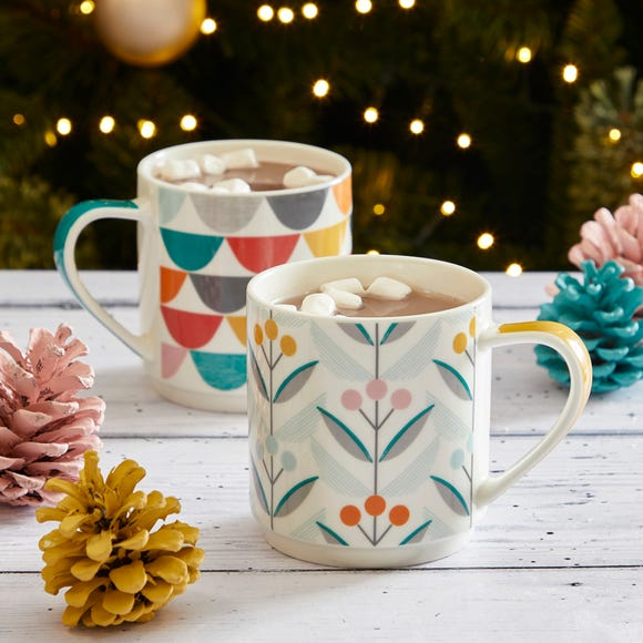 Elements Stacking Mugs MultiColoured