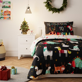 Party Animals Reversible Duvet Cover and Pillowcase Set