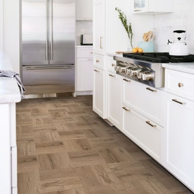 Pickling Brown Self Adhesive Floor Tiles
