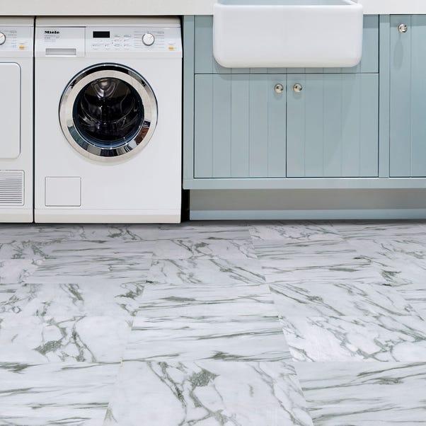 Opaline White Self Adhesive Floor Tiles White