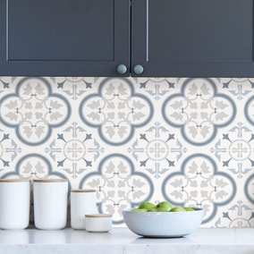 Lisbon Blue Self Adhesive Backsplash Tiles