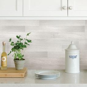Timber Grey Self Adhesive Backsplash Tiles