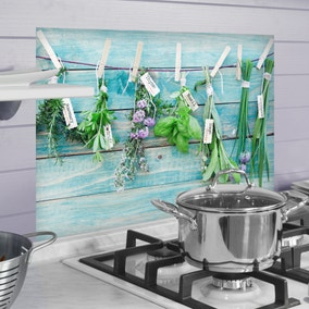 Herbs Multicoloured Self Adhesive Kitchen Panel