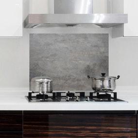 Concrete Grey Self Adhesive Kitchen Panel