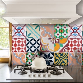 Self Adhesive Multicoloured Kitchen Panel Tiles