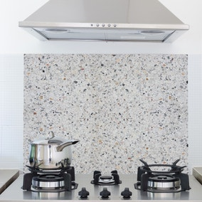 Terrazzo Cement Multicoloured Self Adhesive Kitchen Panel