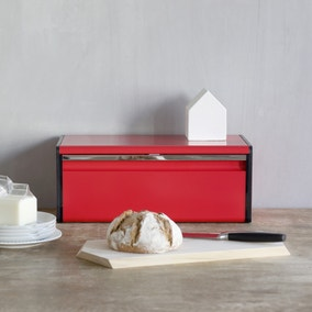 Brabantia Passion Red Fall Front Bread Bin
