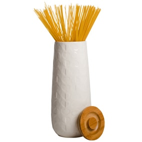 Beau and Elliot Pasta Storage Jar with Bamboo Lid