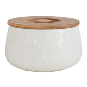 Beau and Elliot Biscuit Storage Jar with Bamboo Lid