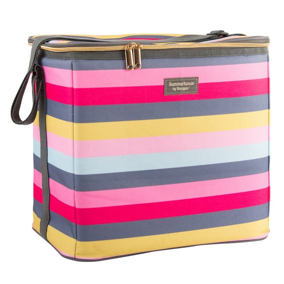 Gardenia Stripe Insulated 20 Litre Family Cool Bag MultiColoured