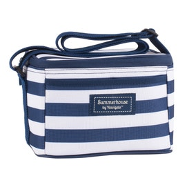 Coast Navy Striped Insulated Cool Bag