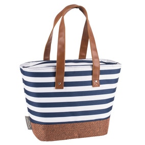 Coast Navy Striped Insulated 15 Litre Shoulder Tote
