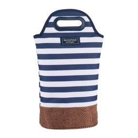Coast Navy Insulated Twin Bottle Carrier