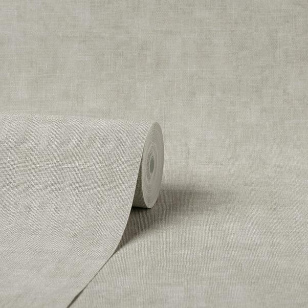 Milano Hessian Stone Vinyl Wallpaper  Stone