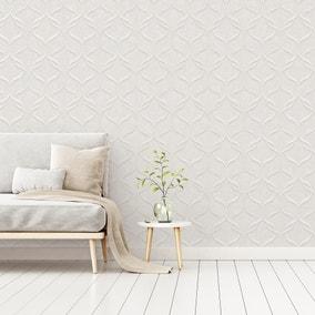 Milano Wave Off White Vinyl Wallpaper