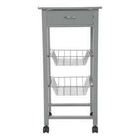Single Grey Kitchen Trolley