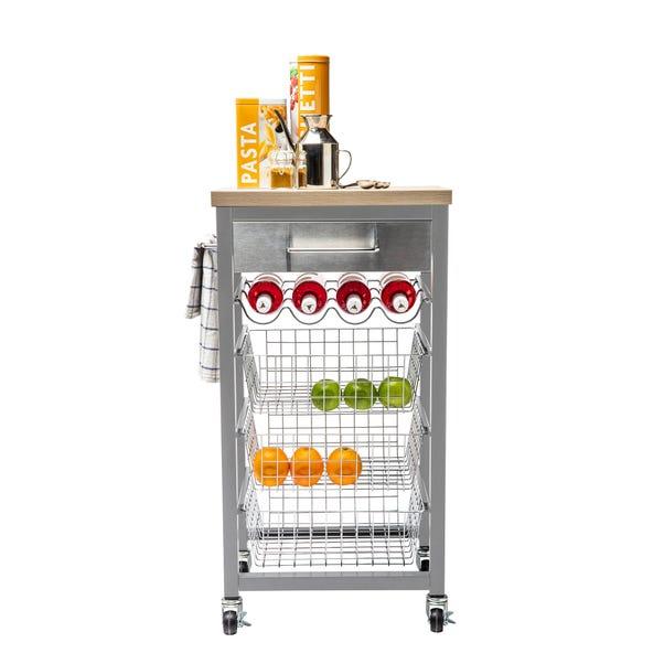 Sandon Grey Kitchen Trolley Grey