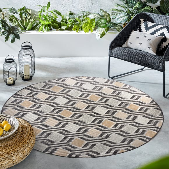 Harmony Circle Rug Natural (Brown) undefined