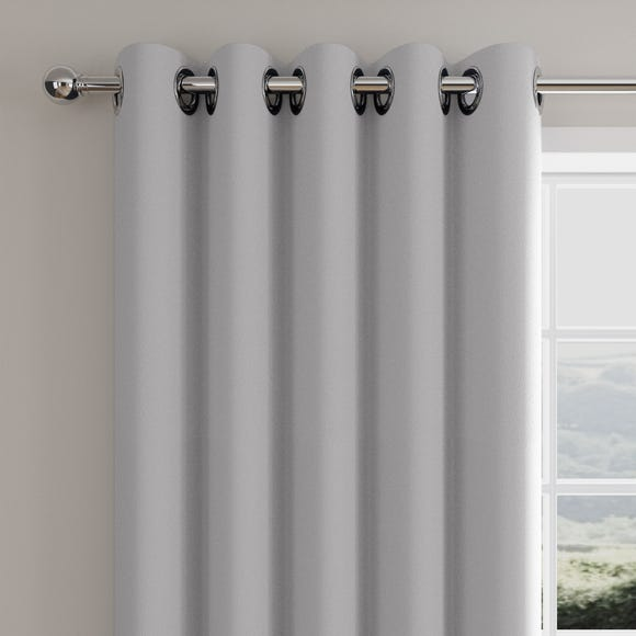 Caldo Thermal Silver Eyelet Curtains  undefined