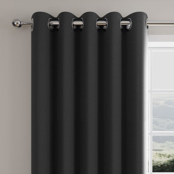 Caldo Thermal Charcoal Eyelet Curtains  undefined